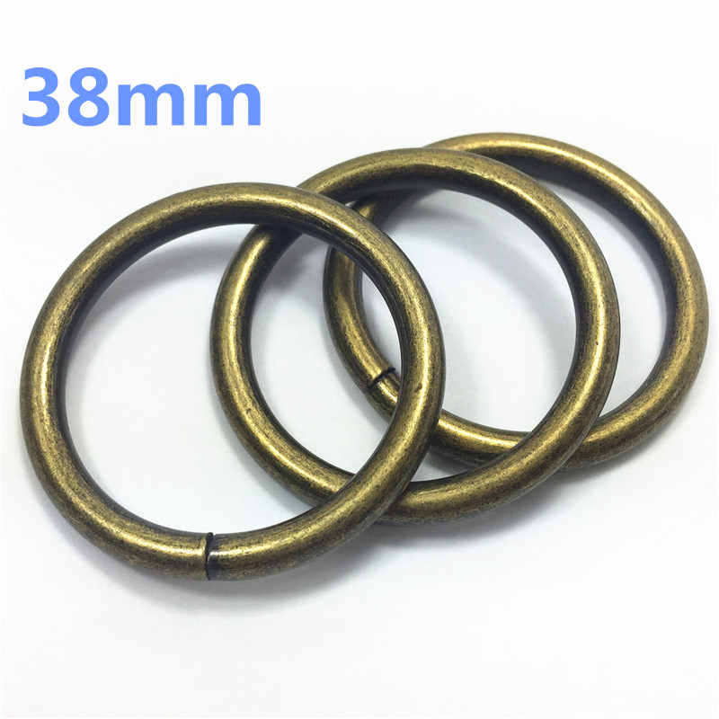 15- 38mm vintage antique bronze D O Ring Openable Keyring Leather Bag Belt Strap Dog Chain Buckle Snap Clasp Clip Trigger Accessories DIY