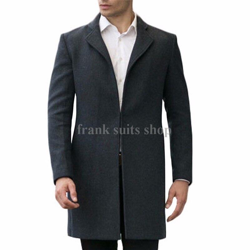 2017 Custom made New Woolen Coat Man 2017 Fashion Brand Man Solid Wool Jackets Man Brief Elegant Wool Blends Outerwear Coat