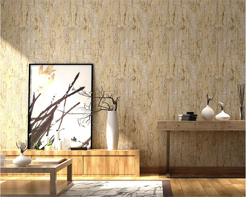 beibehang Vintage retro imitation wood wall paper bedroom bar coffee shop personal clothing store papel de parede 3d wallpaper<br>