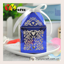white wedding box laser cut decoration wedding candy cake favor box