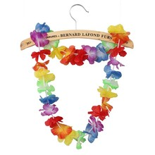 Hot Sales Party Supplies Silk Hawaiian Flower Lei Garland Hawaii Wreath Cheerleading Products Hawaii Necklace P-1009(China)
