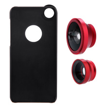 Universal Clip Mobile Phone Lens Fisheye Lens Phone Photo Lens Wide Angle 10X Macro Set with Case for iPhone 5 5S(China)