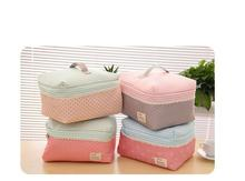 Portable Cosmetic Bag Lingerie Bra Underwear Dot Bags Makeup Organizer Storage Case Travel Toiletry Bag(China)