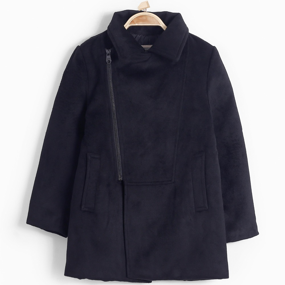 Blends Winter Wool Coat Zipper Autumn Outerwear for Boys School Wear Teen Casual Children Cotton Solid Windbreaker Kids Overcoat<br>