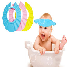 Adjustable Baby Hat Toddler Kids Shampoo Bath Bathing Shower Cap Wash Hair Shield Solid Caps For Children Baby Care