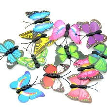 Cheap 12PCS / 4CM Artificial Handmade Plastic Insect Butterfly Wedding Decoration Home Christmas Gift DIY Craft Accessories(China)