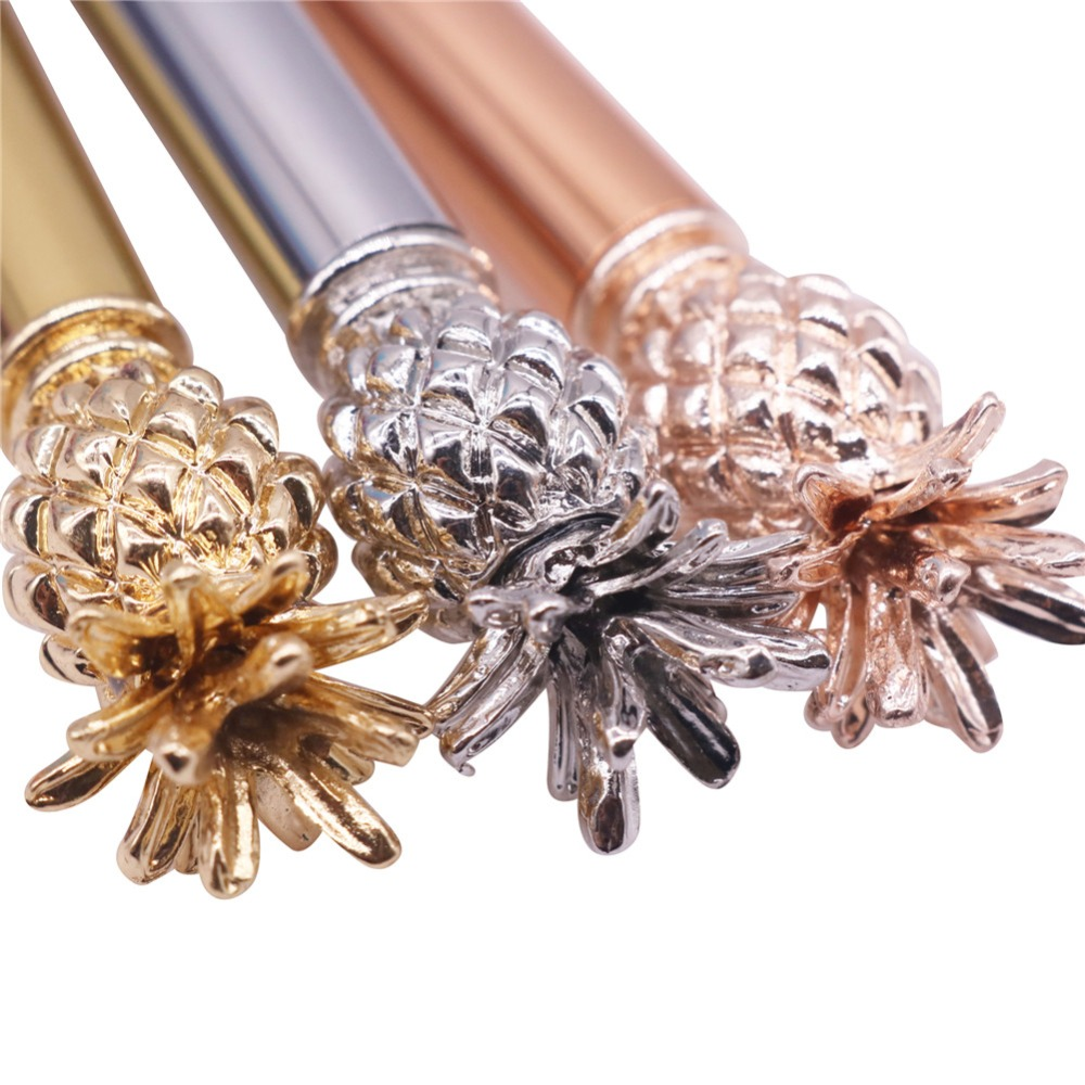 1 pcs 1.0mm Metal Ballpoint Pen New Strange Stationery Gift Pen Silver Rose Gold Gold 3 Color Optional NEW Student Stationery
