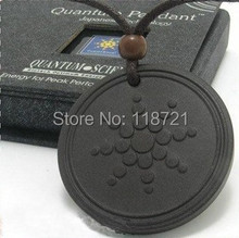 Quantum Pendant power necklaces energy pendant Nano Energy Lava Material with Product Registration Card(China)