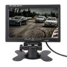 "Universal 7"" TFT LCD Car Monitor Headrest Display Split For Rear View Camera DVD With 2 Video inputs Remote Control Car Styling"