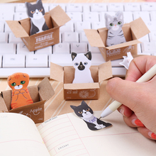 5PCS Hot Cute Cat Label and Memo Pads Cute Cartoon N Times Sticker Office Material Stationery Gift