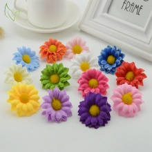 10pcs/lot Daisy Silk Flowers Artificial for home Gerbera Sunflower Wedding Party Decoration Heads for DIY Wreath plastic flower