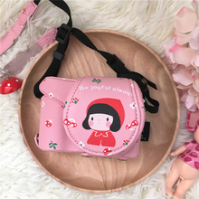 Roadfisher Pink Lady PU Leather Camera Travel Bag Insert Case Cover Strap Belt Lens Cap Fit Sony A6000 A5000 A5100 3N 16-50mm