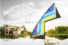 free shipping high quality 2.4m butterfly wings quad line stunt kite with handle line outdoor toys flying hcxkite kitesurfing(China)