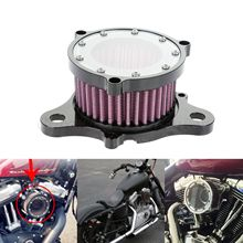 1Set Motorcycle Black Air Cleaner Intake Filter Syetem For Harley sportster 2004-2015 Both Carburated and Fuel Injected Models