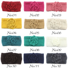 Knitted Headband With Crochet Flower Winter Head Scarf for Women Cold Weather Accessory Winter Head Scarf for Women(China)