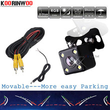 Koorinwoo Movable Parking Guide line camer Dynamic trajectory HD CCD Rear view Camera Car reverse Cam Sensor Parking Assistance(China)