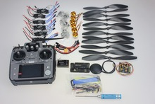 F02015-J Foldable Rack RC Helicopter Kit APM2.8 Flight Control Board+GPS+1000KV Motor+10x4.7 Propeller+30A ESC+AT10 TX(China)
