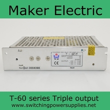 nice quality T-60A 60w 5v 5v 12v triple power supplies ac DC