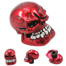 NEVERLAND Universal Manual Operation Car Gear Shift Knob Shifter Lever Resin Skull Red Big promotions(China)