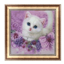 DIY 5D Diamond Embroidery Cute little Cat Painting Cross Stitch Home Decor 30*30cm-F1FB