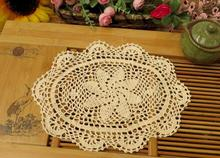 Lace cotton kids placemat cup pot coaster mug holder kitchen handmade table place mat cloth Crochet doilies drink HOT Trivet pad