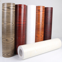 PVC Wall Paper Sticker 1 meter Self-adhesive Sticker Furniture Refurbished Wood Waterproof Thick Wallpaper
