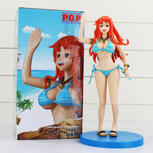 "10"" 26cm One Piece Anime Cartoon Nami PVC Model Toys Sexy Girl Figurine Free Shipping"