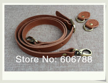 Free shipping10sets/lot High quality Real Genuine leather bag handle. DIY bag strap handbag handle+buckle accessories 120*1.8cm
