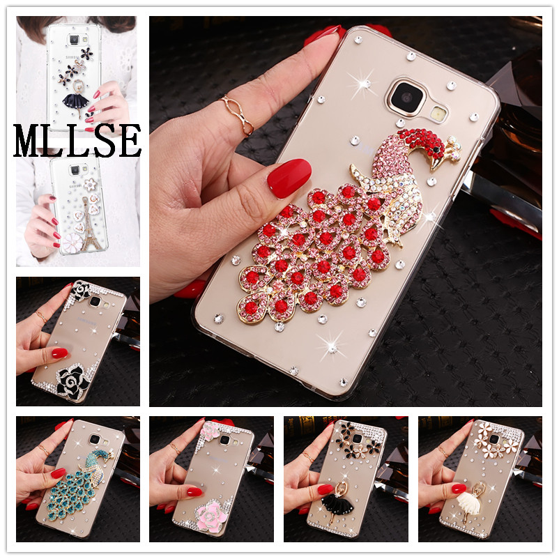 MLLSE New Luxury Diamond Bling Flower Case Cover Samsung Galaxy J5 J7 2016 2015 J7 Prime J5 Prime J2 Prime