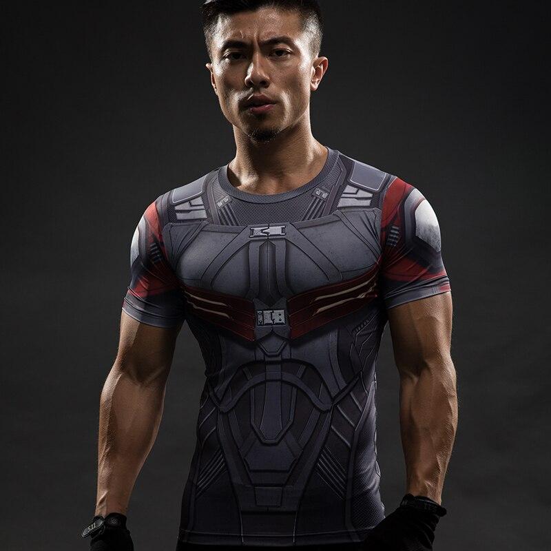 Short Sleeve 3D T Shirt Men T-Shirt Male Crossfit Tee Captain America Superman tshirt Men Fitness Compression Shirt Punisher MMA 28