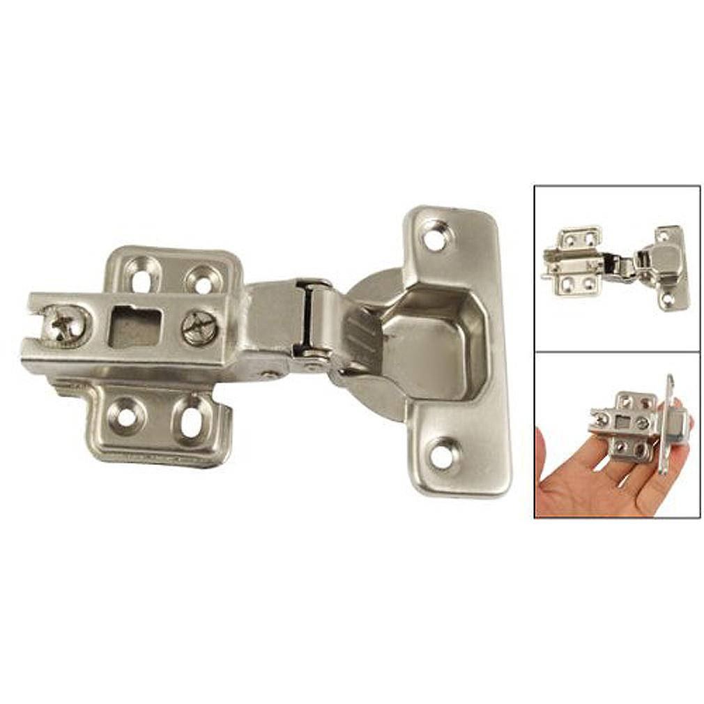 NFLC Silver Tone BuffeRing Half Overlay Hinge For CabInet Door(China)