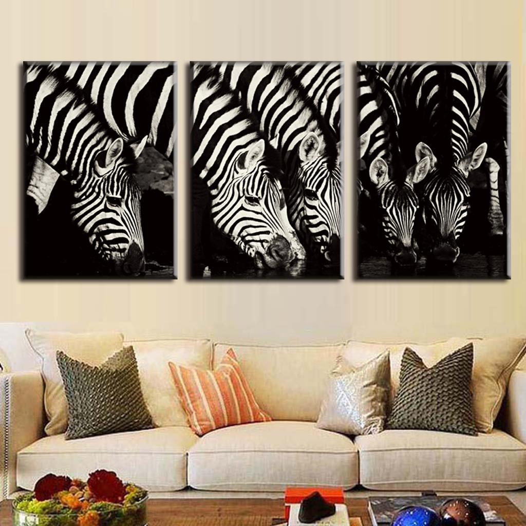 Zebra Wall Art paintings zebra promotion-shop for promotional paintings zebra on