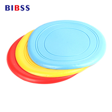 2017 Perros Perro Tooth Resistant Flying Pet Dog Toy Silicone Rubber Chewing Frisbee For Dog Outdoor Training Interactive Toy(China)