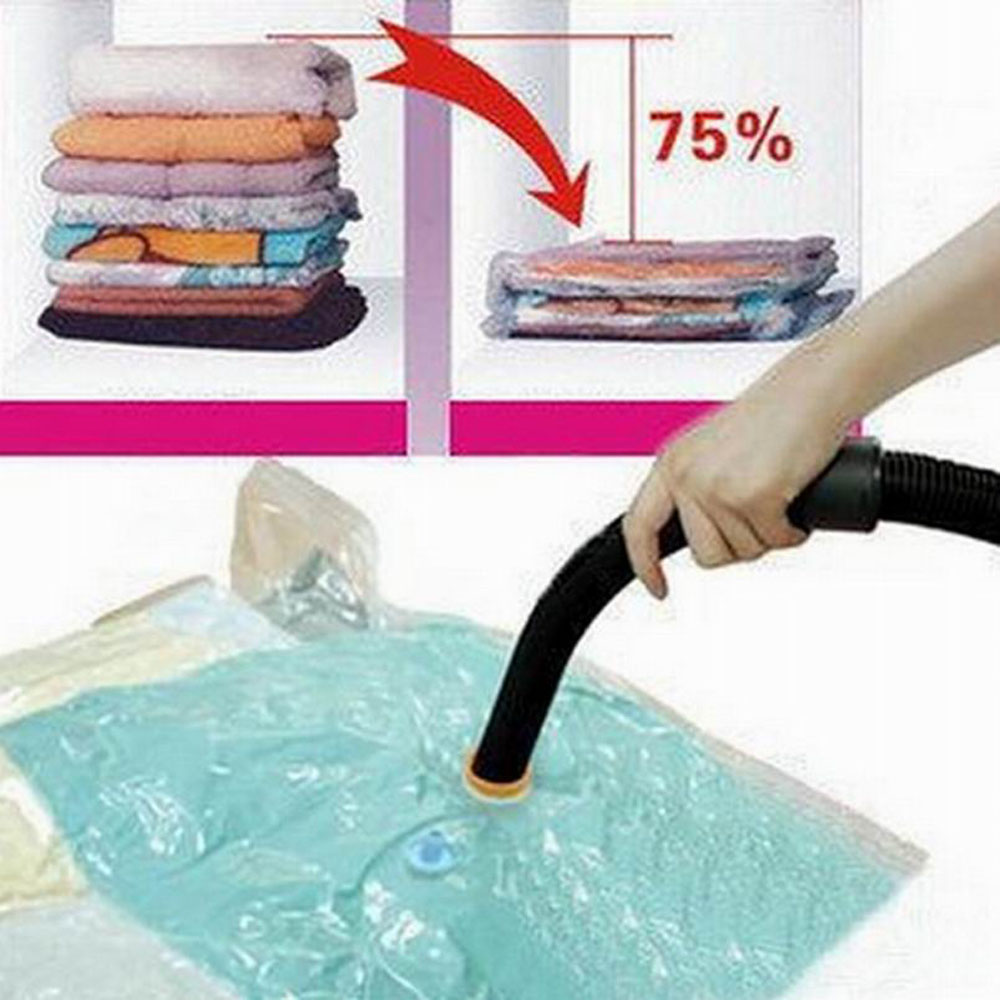 1Pc Practical Large Space Saver Saving Storage Bag Vacuum Seal Compressed Organizer Home Storage Case(China (Mainland))