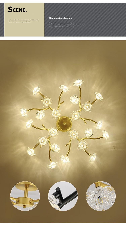 DX Vintage Flower Ceiling Light (8)