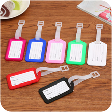 BILLTERA candy color luggage tag women travel accessories men suitcase baggage label tourists name id address boarding tags