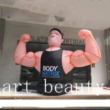 custom made advertising inflatable body fitness man inflatable figure