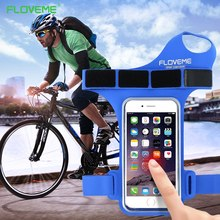 FLOVEME Cycling Riding Armband Case For iPhone 6 6S 7 Plus 4.7 5.5 Inch Sport Bag Gym Running Climing Out Door Nylon Phone Pouch(China)