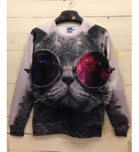 Hot Sale 2016 Mens/Womens Autumn Hoodies Funny Glasses Cat 3D Printed Geative Graphic Sweatshirt Causal Jumper Pullover Tops