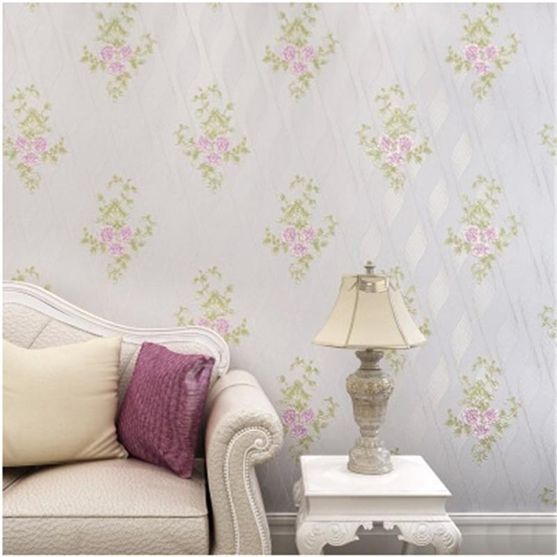 beibehang Romantic Beautiful Flower Curve Design Wallpapers Roll 3D Mural Wallpaper Non-woven Room Decor Elegant Wall paper<br>