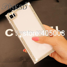 Crystal Bling Diamond Luxury Case For Sony Xperia T3 Case For Sony Xperia L S36H T LT30P Protective Mobile Phone Back Case Cover