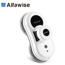 Alfawise Vacuum Cleaner Robot Remote Control High Suction Anti-falling Best Robot Vacuum Cleaner Window Glass Cleaning Robot S60