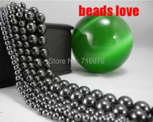 "wholesale Natural Stone Black Hematite Shamballa Beads 4 6 8 10 12MM 16"" Per Strand Pick Size For Jewelry Making-F00127"