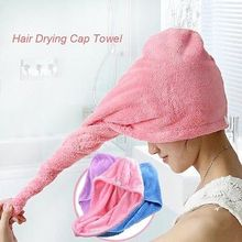 micfabric Wash Towel Quick Dry Hair Drying Spa Bathing Wrap Caps