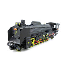 Colorized Japan D51 locomotive model kit laser cutting 3D puzzle DIY metal car model jigsaw best gifts for kids educational toys