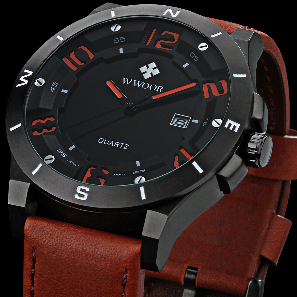 New watch Luxury Brand Men Military Sports Watches Digital 3d surface Quartz watch Wristwatches Leather strap relogio masculino<br><br>Aliexpress