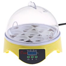 High Quality HHD Mini Egg Incubator 7PCS Eggs Automatic Poultry Chicken Hatcher Machine(China)