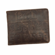 Free Shipping BMF Wallet Bad Mother F*cker Leather Wallets Purse Cool Purse for Gift Unisex Free Shipping