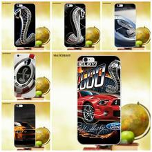 Matcheasy For Apple iPhone 4 4S 5 5C SE 6 6S 7 8 Plus X Soft TPU Mobile Shell Ford Mustang Shelby Gt500(China)