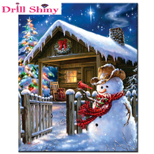 5D DIY diamond embroidery Christmas gift diamond painting cross stitch Snow house full square drill rhinestone mosaic decoration(China)